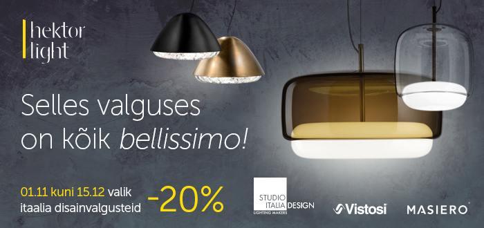 Itaalia disainivalgustid soodsalt!