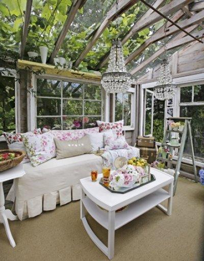 Pilt 3 - Kasvuhoone kui talveaed-puhkenurk.