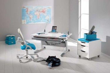 Pilt 8 - Reguleeritava kõrgusega kirjutuslaud ja tool - hea lahendus lapse tuppa!