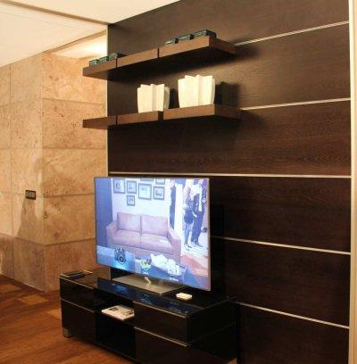 Pilt 10 - Seina moodulriiul Krause disain, keraamika iittala, TV- kapp ja TV Tehnikarent (Euronics)