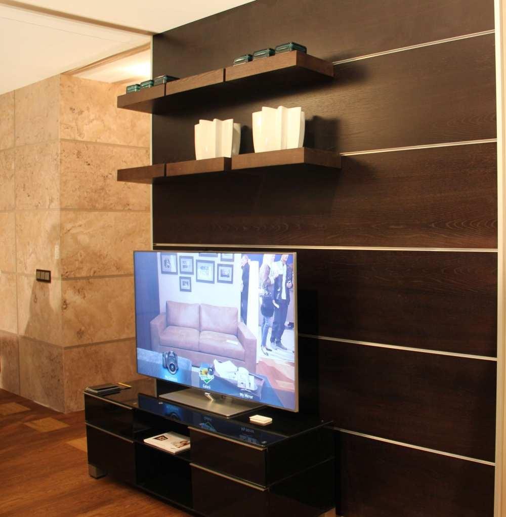 Seina moodulriiul Krause disain, keraamika iittala, TV- kapp ja TV Tehnikarent (Euronics)