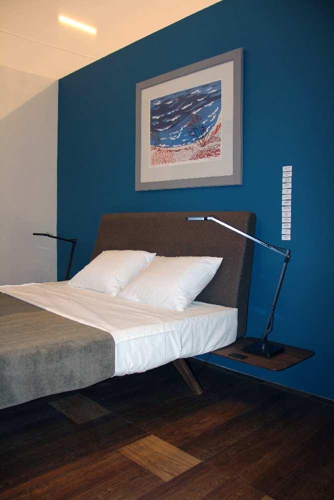 """Magamistuba (voodi Sisestiil, maal """"Rand"""" Evi Tihemets, seinte värv Caparol, valgustid Tulekuma, põrand Floorin, voodipesu teaspon, voodikate Smartex Disain))"""