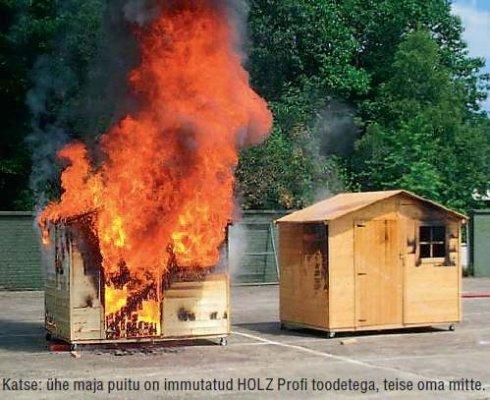 Puitmaja tulekindlaks tõhusa puidukaitsega HOLZ Profilt