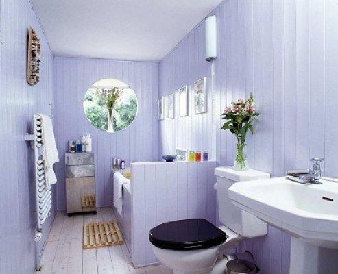 Pilt 18 - Sellesse vannituppa on küll lisatud moodsad seadmed, puitpõrand ja –vooder aga järgivad endisaegset stiili. Foto: Nordic Timber Council