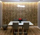 Puidust seinapaneelid annavad ruumile juurde hubasust