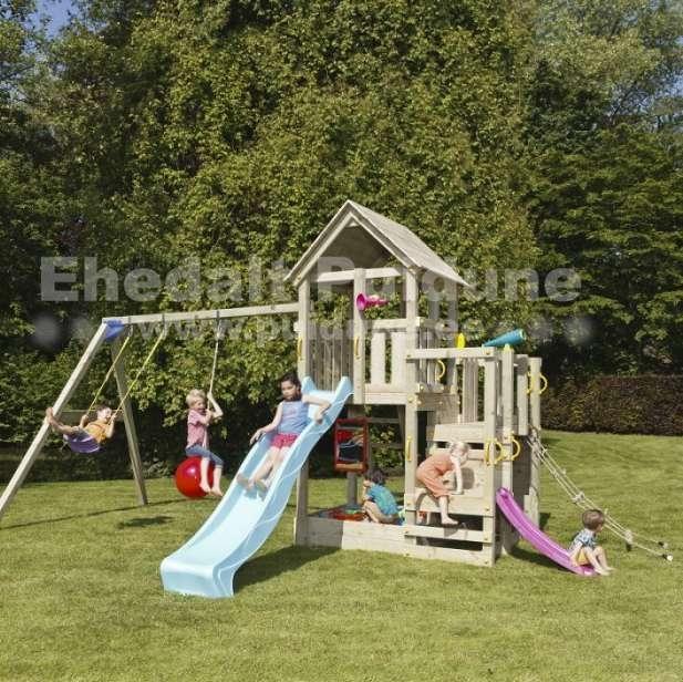 Lastele õuealale mänguväljak ja mängumaja