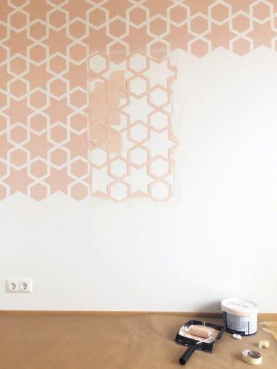 Pilt 12 - Seina värvimine šablooniga: unikaalne dekoreerimise viis