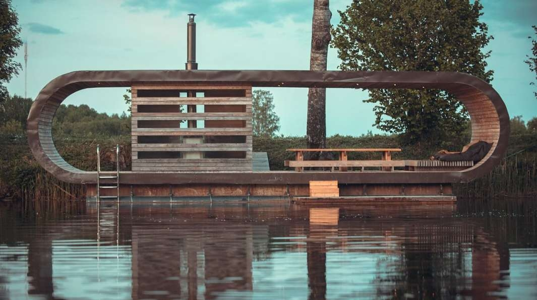 Ujuv saun. Arhitekt Tomomi Hayashi