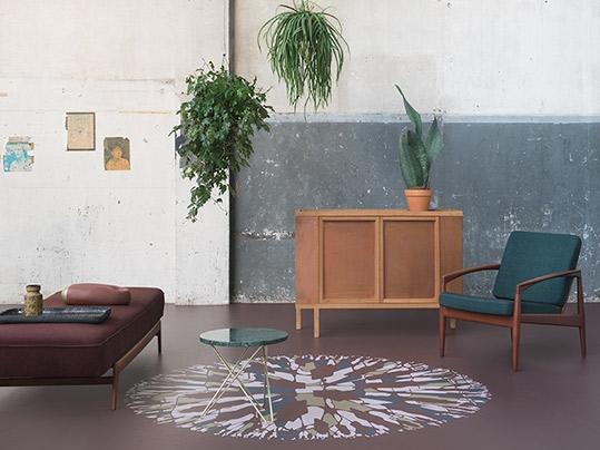 Kas pole mitte lahe mõte disainida interjööri marmoleumiga