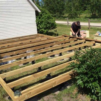 Terrassi ehitamine ebatasasele pinnale