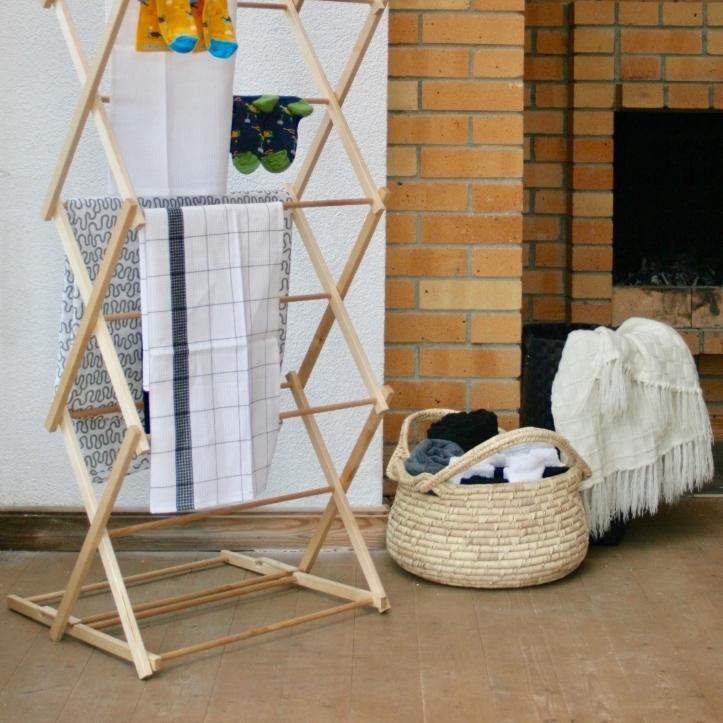 Kuivata pesu stiilse pesurestiga
