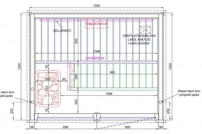 Joonis - sauna kabiini ehitus - 3