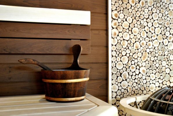 Pilt 2 - Termopuitlaudadest sauna sein.