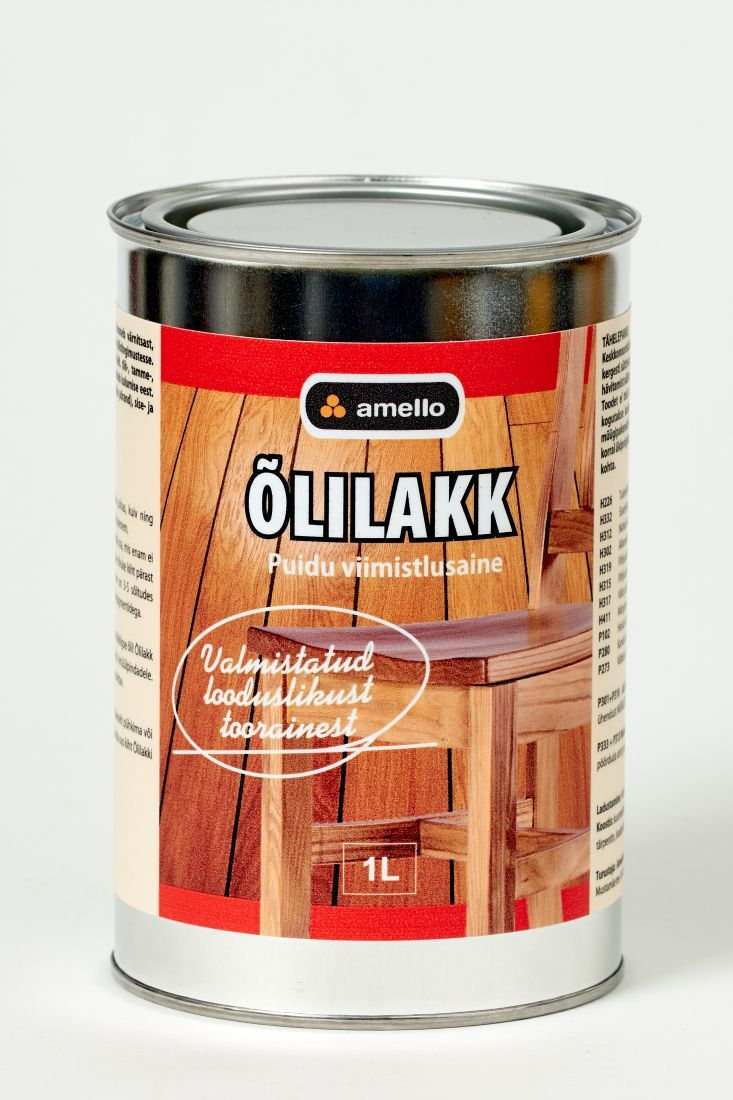 Õlilakk Sobib hästi niiskuskindlust nõudvate puitpõrandate (vannitoa ja esiku põrand), uste ning sisemööbli viimistlemiseks.
