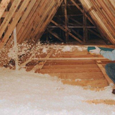 Pilt 4 - Puistevillaga soojustamine