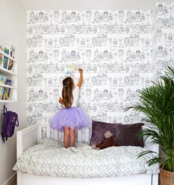 Loomingulised pilttapeedid ja vahvad kleebised lapse tuppa