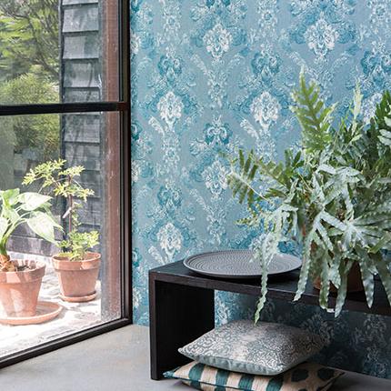 Erilise tekstuuriga Rasch Textil tekstiilist seinakatted
