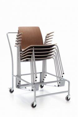 Pilt 7 - COM (Profirm) - mitmeotstarbeline kontoritool disainiti spetsiaalselt mitmekülgseks ja mugavaks. Lihtne üheosaline vineerist iste ja seljatugi on saadaval kolmes erinevas disainis ja mitme puit ning H