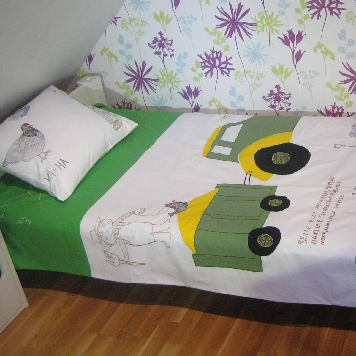 Telli enda disainitud pildiga voodipesu