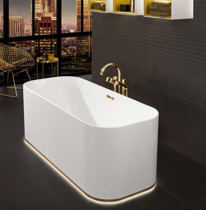 Vannituppa saab erilist meeleolu luua vanni väliskülje alumises servas olev valgusribaga. Ka vannitoakapid on võimalik varustatud hämardusfunktsiooniga LED-valgustitega.