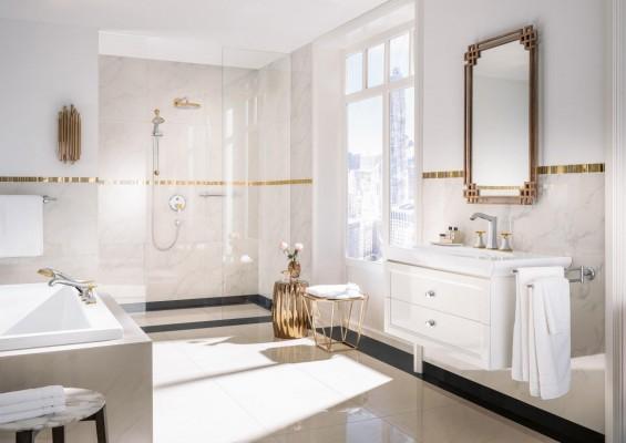 Pilt 3 - Elegantsi vannituppa kuldsete Hansgrohe segistide ja duššidega