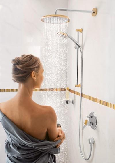 Pilt 2 - Elegantsi vannituppa kuldsete Hansgrohe segistide ja duššidega