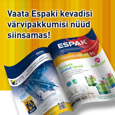 Tutvu ESPAKI kliendilehe 84 pakkumistega (kehtib kuni 31.05)