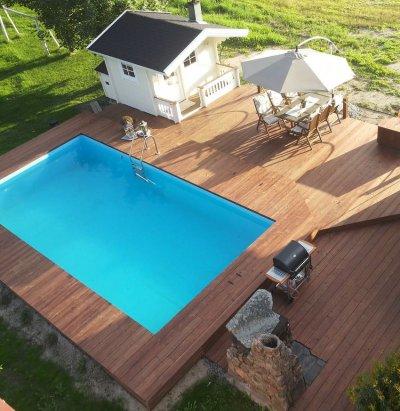 Stiilselt ökoloogiline Easycare terrassilaud