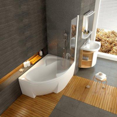 Ravaki akrüülvann ROSA on ideaalne väiksesse vannituppa