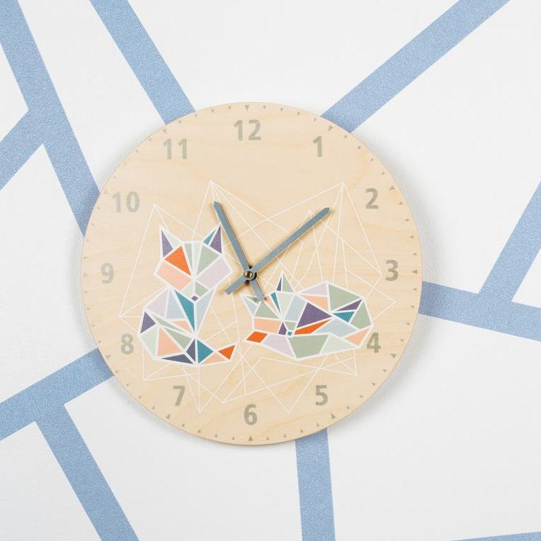 Origami - wall clock for children