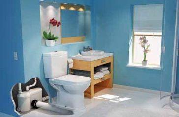 SFA minipumpla võimaldab wc-poti ja valamu paigaldust kohta, kus muidu on see võimatu