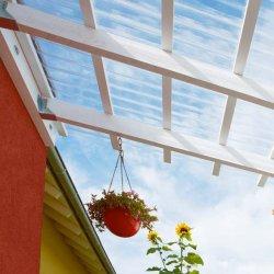 Pilt 2 - Laineprofiiliga läbipaistvad katteplaadid kergkatuse ehituseks