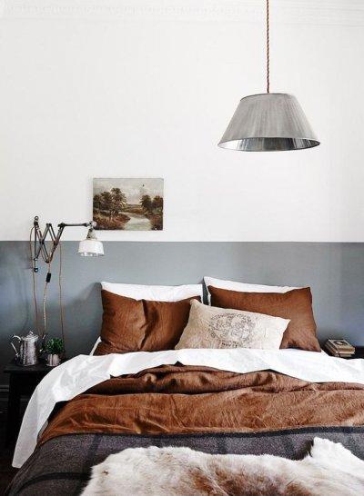 Pilt 2 - Pruun ja hall toon magamistoas