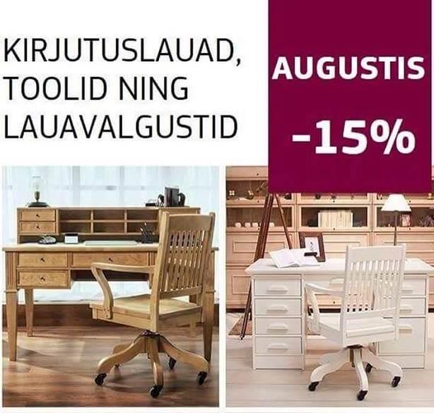 SKANO kirjutuslauad, kirjutuslaua toolid ning lauavalgustid 15%