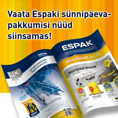 Tutvu ESPAKI kliendilehe 93 pakkumistega (kehtib kuni 31.03)