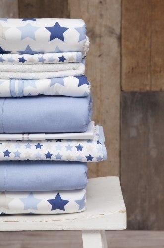 Voodipesu komplekt 'Mixed Stars Blue' 100 x 140 cm + 40 x 60 cm