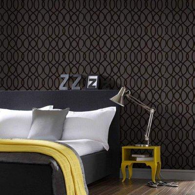 Pilt 4 - Sametja musta ja kollas koosmäng magamistoas mõjub helgelt ja luksuslikult!