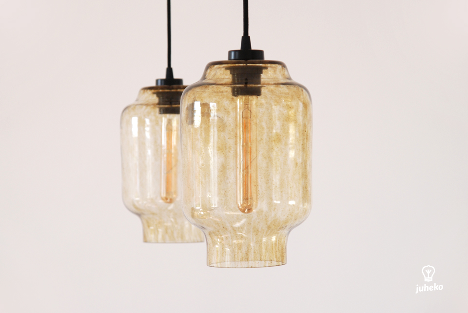 HANDMADE GLASS PENDANT LIGHT KAJU, SANDSTORM