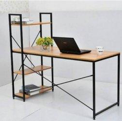 Minimalistlik metallraamiga kirjutuslaud ja riiul - STEEL FURNITURE
