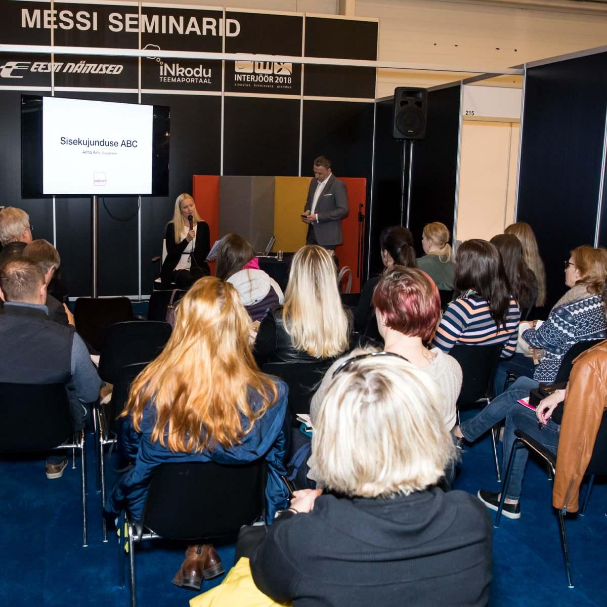 Interjööri messi sisekujunduse seminar 2018 aastal. Esineja Airita Aim.