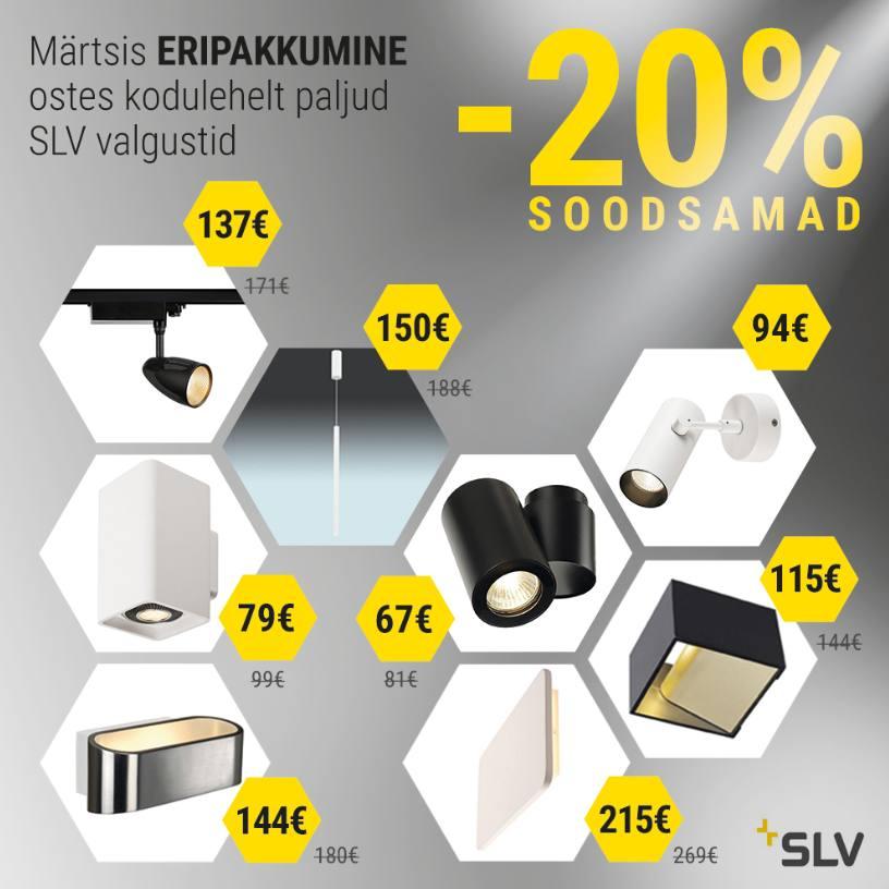 Hektor Lightis SLV valgustid -20% kuni 31.03