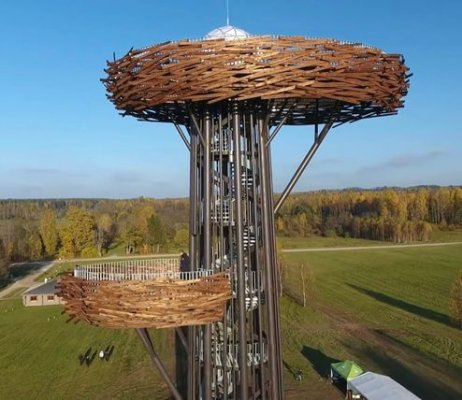 Pilt 2 - Rõuge vaatetorn on Holz Prof toodetega kaistud nii tule kui mädanemise eest.