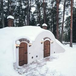 Revonial energiasäästlikud võlvhooned: koobassaun, maakelder, suveköök