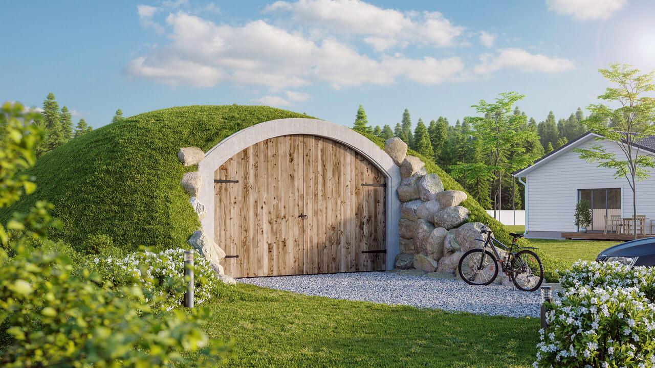 Pilt10-Revonial energiasäästlikud võlvhooned: koobassaun, kelder, suveköök...