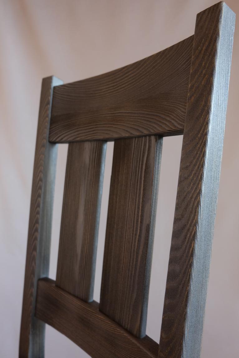 Pilt2-Uudse ilmega vanutatud puidust tool Garden