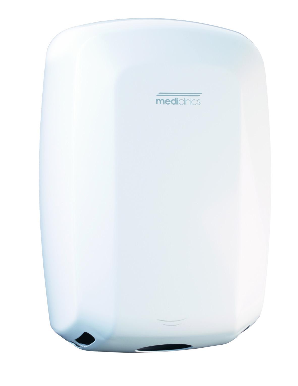 Valge kätekuivati (Sensoriga Mediclinics Machflow® 325km/h)