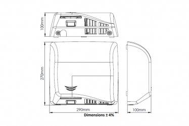 Pilt 7 - Reguleeritava kiiruse ja sensoriga kätekuivatid Mediclinics SPEEDFLOW