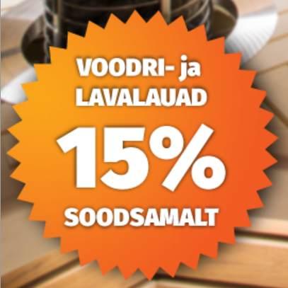 Sauna lava- ja voodrilauad -15%