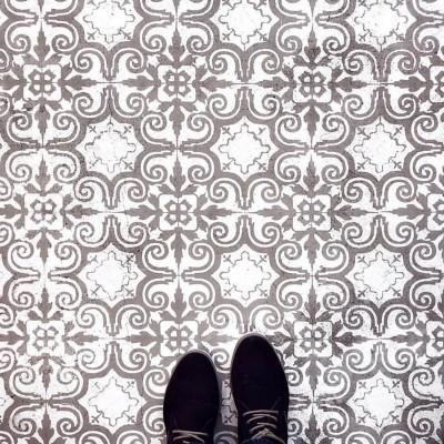 Porto šabloon betoonpõrandal - 7