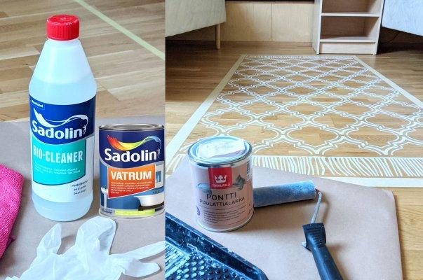 Põrandale šablooniga värvimiseks vajalikud vahendid - StenCilit - 1